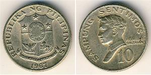 10 Centimo Philippines Cuivre-Nickel