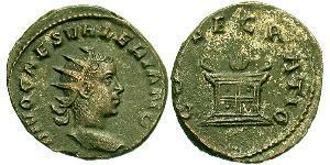 1 Antoniniano Impero romano (27BC-395) Argento Valeriano II (?-258)
