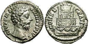 1 Denier Empire romain (27BC-395) Argent Marc Aurèle (121-180)