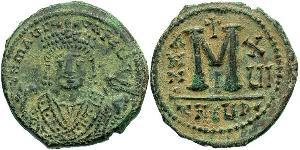 1 Follis Empire byzantin (330-1453) Bronze Maurice I (539-602)