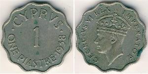 1 Piastre British Cyprus (1878 - 1960) Rame/Nichel