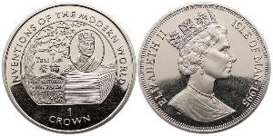 1 Crown Isle of Man Copper/Nickel Elizabeth II (1926-)