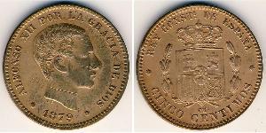 5 Centimo Kingdom of Spain (1874 - 1931) Bronze