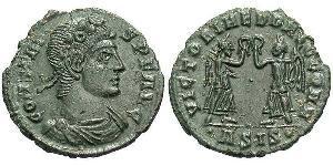 AE4 Imperio romano (27BC-395) Bronce Constante I (320-350)