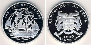 1000 Franc Bénin Argent