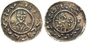 1 Dinar Bohemia Silver Bretislaus I, Duke of Bohemia (1005-1055)