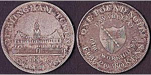 1 Token / 1 Шилінг Сполучене королівство Великобританії та Ірландії (1801-1922) Срібло