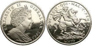 1 Crown Gibraltar Silber Elizabeth II (1926-)