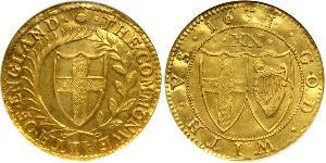 1 Unite Commonwealth of England (1649-1660) Gold
