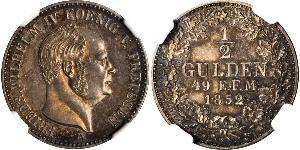 1 Gulden Kingdom of Prussia (1701-1918) Silver Frederick William IV of Prussia (1795 - 1861)