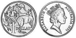 1 Dollar Australien (1939 - ) Kupfer/Nickel/Aluminium Elizabeth II (1926-)