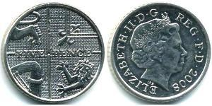 5 Penny Feriind Kiningrik (1922-) Cuivre/Nickel Elizabeth II (1926-)