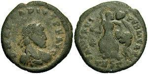 1 Follis /  AE4 Empire byzantin (330-1453) Bronze Arcadius (377-408)