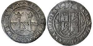 4 Real Spanish Mexico  / Kingdom of New Spain (1519 - 1821) Silver Charles V, Holy Roman Emperor (1500-1558)