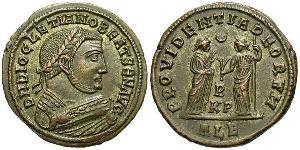 1 Follis Empire romain (27BC-395) Bronze Dioclétien (244-311)
