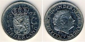 1 Gulden Kingdom of the Netherlands Nickel Juliana of the Netherlands (1909 – 2004)