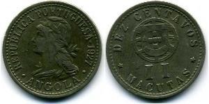 10 Centavo / 2 Macuta Portugal / Portuguese Angola (1575-1975) Copper/Zinc