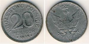 20 Pfennig Zweite Polnische Republik (1918 - 1939) Zink