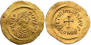 1 Tremissis  Byzantine Empire (330-1453) Gold Maurice Tiberius (539-602)