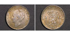 1 Gulden Kingdom of the Netherlands Silver Wilhelmina of the Netherlands (1880 - 1962)