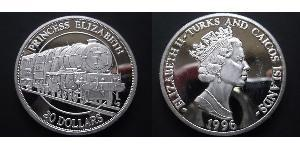 20 Dollar Turks and Caicos Islands Silver Elizabeth II (1926-)