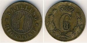1 Skilling Danemark Bronze