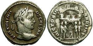 1 Argenteus Imperio romano (27BC-395) Plata Galerio Maximiano (260-311)