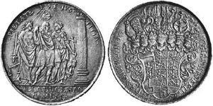 1 Thaler Fürstentum Ansbach (1398–1792) Silber Johann Friedrich (Brandenburg-Ansbach)(1654 – 1686)