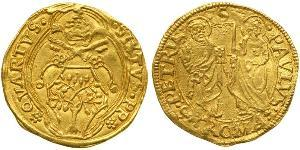 1 Ducat Papal States (752-1870) Gold Pope Sixtus IV (1414-1484)