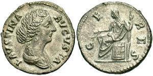 1 Denario Impero romano (27BC-395) Argento Faustina II (130-175)