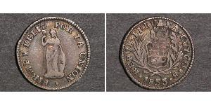 1/2 Real Peru Silver