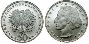 50 Zloty Repubblica Popolare di Polonia (1952-1990)