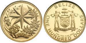 100 Dollaro Belize (1981 - ) Oro