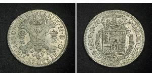 1 Patagon Spanish Netherlands (1581 - 1714) Silver Charles II of Spain (1661-1700)