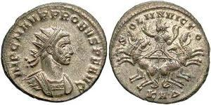 1 Antoniniano Impero romano (27BC-395) Rame/Argento Probo (232-282)