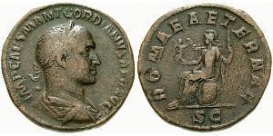 Сестерций из аурихалка Гордиана II (192–238)