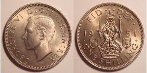 1 Shilling United Kingdom (1922-) Copper/Nickel George VI (1895-1952)