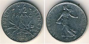 1/2 Franc France Copper/Nickel