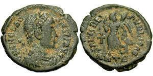 1 Follis /  AE4 Imperio romano (27BC-395) Bronce Teodosio I (347-395)