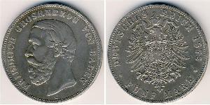 5 Mark Grand Duchy of Baden (1806-1918) Silver