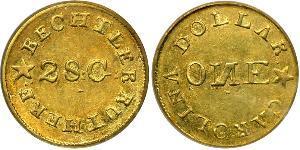 1 Dollar Vereinigten Staaten von Amerika (1776 - ) Gold Christopher Bechtler (1782-1843)