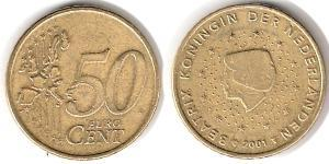 50 Eurocent Kingdom of the Netherlands (1815 - )