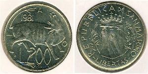 200 Lira San Marino Kupfer/Nickel
