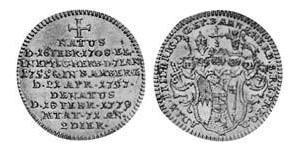 3 Kreuzer Principato vescovile di Bamberga (1245–1802) Biglione Argento
