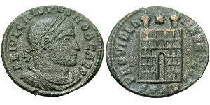 AE3 Impero romano (27BC-395) Bronzo Crispo (305 - 326)