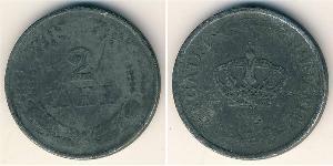2 Leu Kingdom of Romania (1881-1947) Zinc