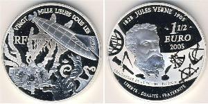 1 1/2 Euro France Silver