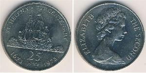 25 Penny  Copper/Nickel Elizabeth II (1926-)