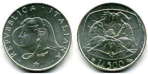 500 Lira Italia Argento