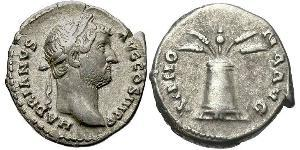 1 Denario Impero romano (27BC-395) Argento Adriano (76 - 138)